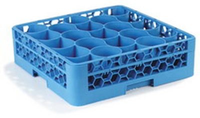 Carlisle RW2014 Full-Size Dishwasher Glass Rack w/ (20) Compartments & Extender, Blue