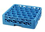 Carlisle RW3014 Full-Size Dishwasher Glass Rack - 30-Compartments, 1-Extender, Blue