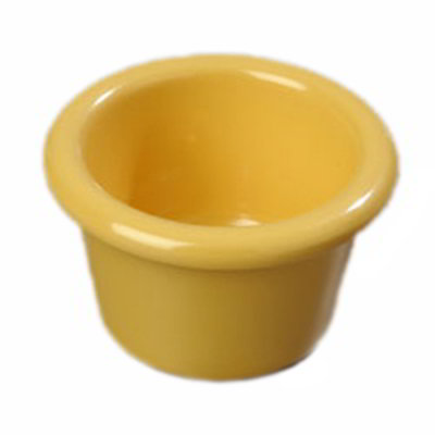 "Carlisle S27522 2.5"" Round Ramekin w/ 1.5-oz Capacity, Melamine, Honey Yellow"