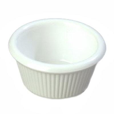 Carlisle S27902 2-oz Fluted Ramekin - Melamine, White