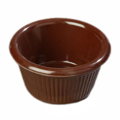 Carlisle S27969 2-oz Fluted Ramekin - Melamine, Chocolate