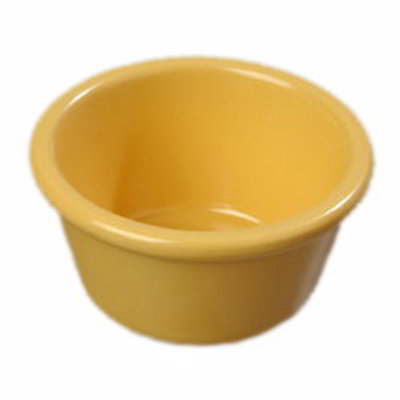 "Carlisle S28522 3.125"" Round Ramekin w/ 4-oz Capacity, Melamine, Honey Yellow"