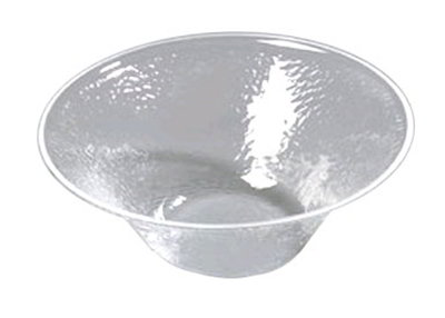 Carlisle SB9007 3.3-qt Bell Bowl - Pebbled Texture, Acrylic, Crystal-Clear