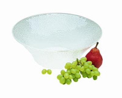 Carlisle SB9407 6-qt Bell Bowl - Pebbled Texture, Acrylic, Crystal-Clear