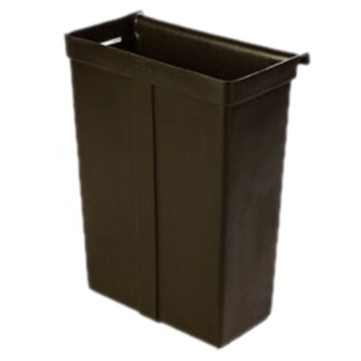 "Carlisle SBC11TC03 Bus Cart Trash Bin - 16-1/8x9-3/8x21-7/8"" Black"