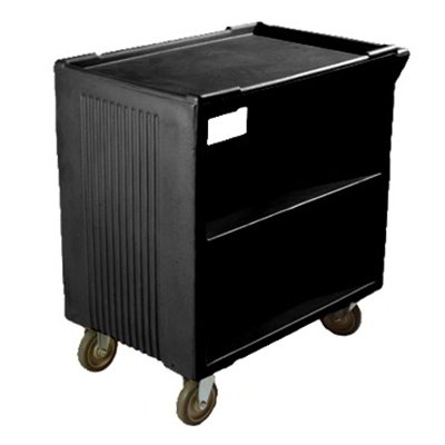 Carlisle SBC23003 Service Cart - 500-lb Capacity, (3)Shelves, Black