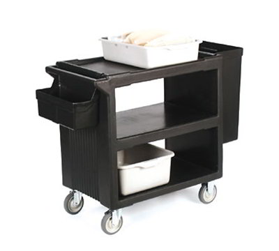 "Carlisle SBC11SH03 Service Cart Silverware Bin - 15-3/8x6-2/11x11-2/11"" Black"