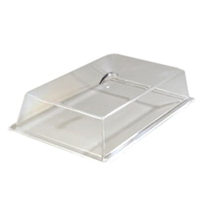 "Carlisle SC2707 Pastry Tray Cover - 19-5/16x11-3/8x4-1/4"" Acrylic, Chrome/Clear"