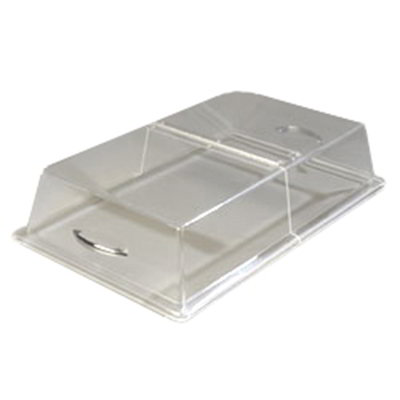 "Carlisle SC2907 Pastry Tray Cover - 21-5/16x13-5/16x4"" Acrylic, Chrome/Clear"