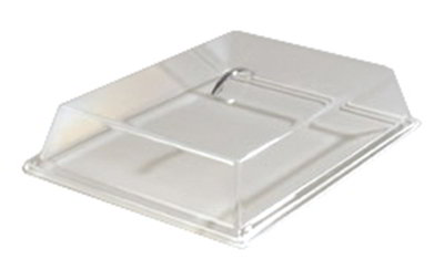 "Carlisle SC4007 Pastry Tray Cover - 16-11/16x11-15/16x3-1/4"" Acrylic, Chrome/Clear"