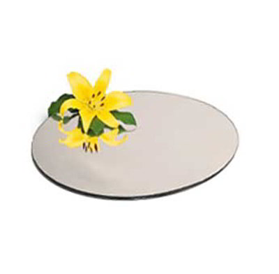 "Carlisle SMR2423 24"" Round Display Tray - Mirrored Acrylic"