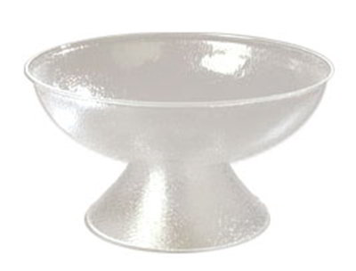 Carlisle SP2207 24-qt Pedestal Punch Bowl - Pebbled, Acrylic, Clear