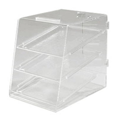 Carlisle SPD30007 3-Tier Pastry Display Case - Slant-Front, Acrylic, Clear