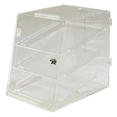 Carlisle SPD303KD07 3-Tier Pastry Display Case - Self-Serve, Unassembled, Acrylic, Clear