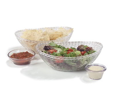 "Carlisle WB96507 Oval Basket - 9-3/7x6-5/8"" Polycarbonate, Clear"