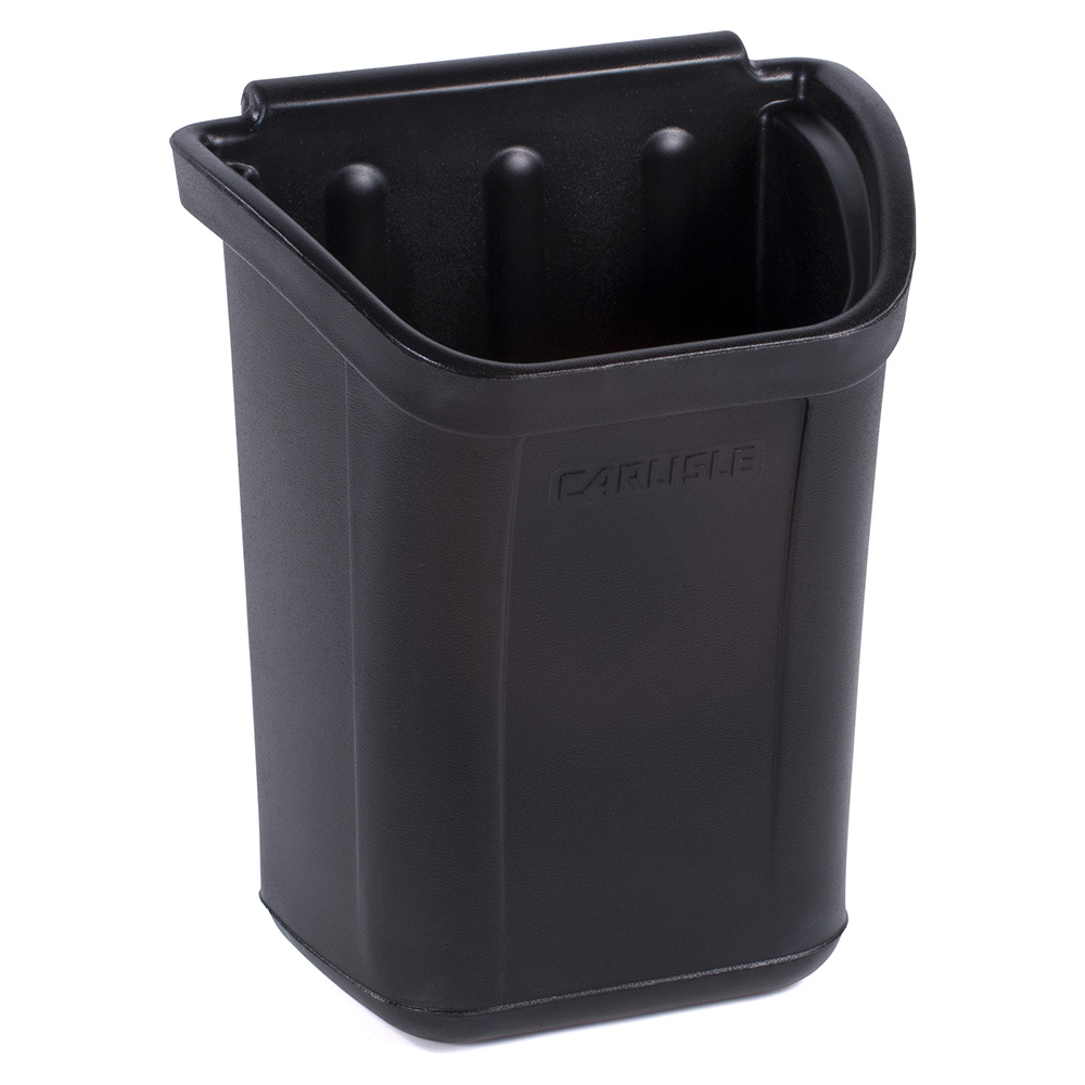 Carlisle CC11TH03 Polyethylene Trash Bin, Black