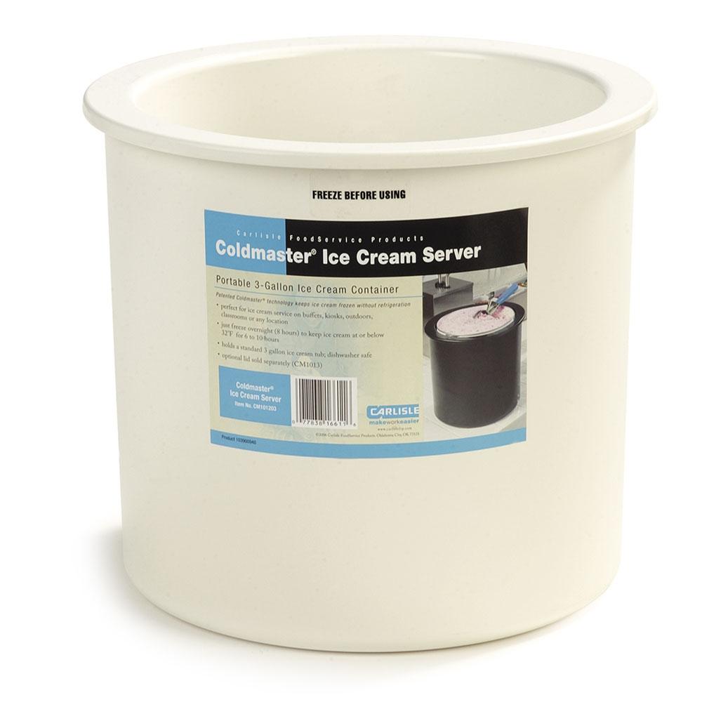 Carlisle CM101202 3-gal Ice Cream Server - Clear/White