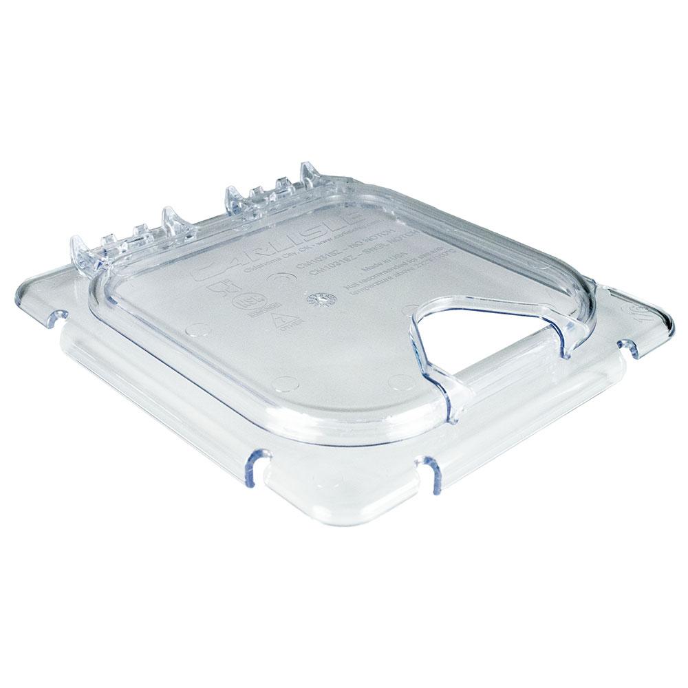 Carlisle CM10319Z07 Coldmaster® 1/6-Size EZ Access Lid, Hinged, Clear