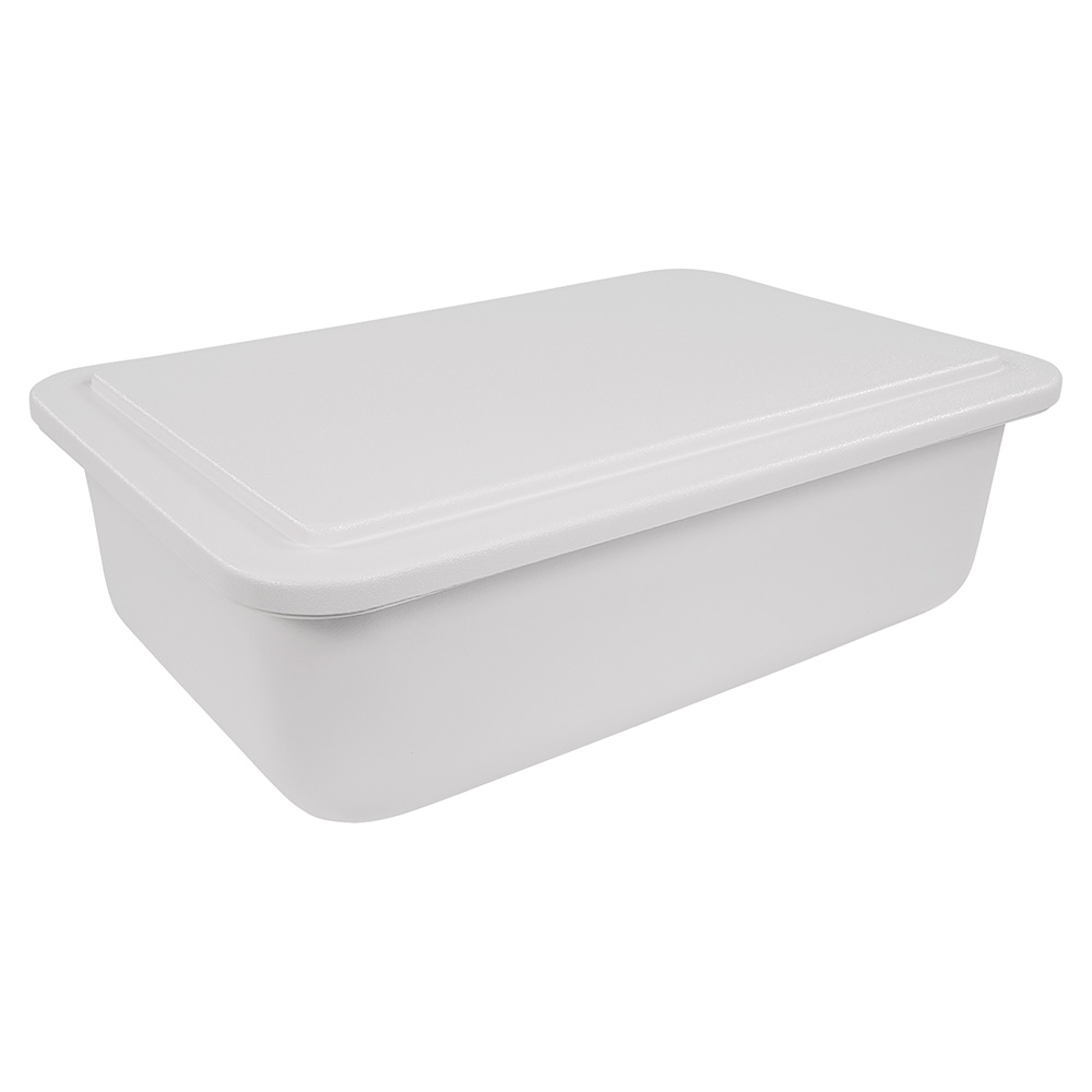 """Carlisle CM104202 Full-Size Coldpan - 6"""" D, Refrigerant Gel Insulated, White"""