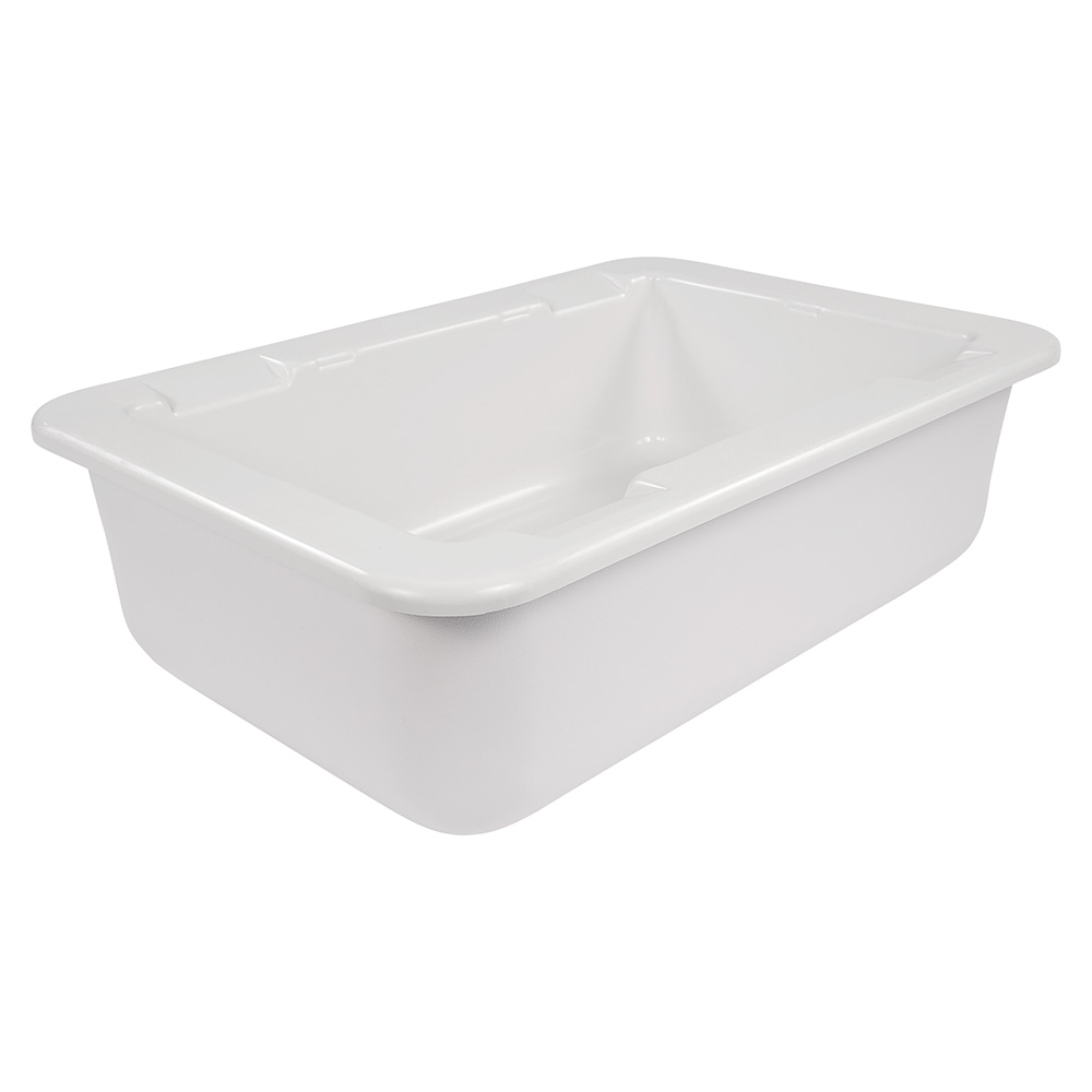 "Carlisle CM104202 Full-Size Coldpan - 6"" D, Refrigerant Gel Insulated, White"
