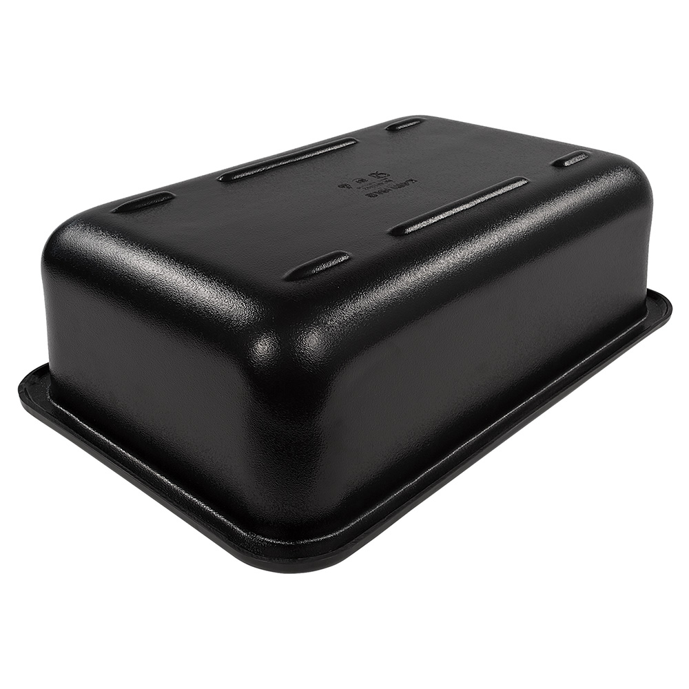 "Carlisle CM104203 Full-Size Coldpan - 6"" D, Refrigerant Gel Insulated, Black"