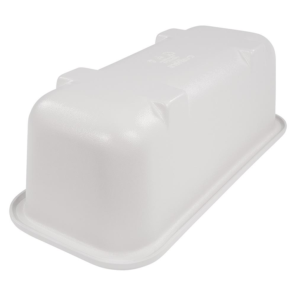 Carlisle CM104302 Half-Size Long Cold Food Pan - Plastic, White