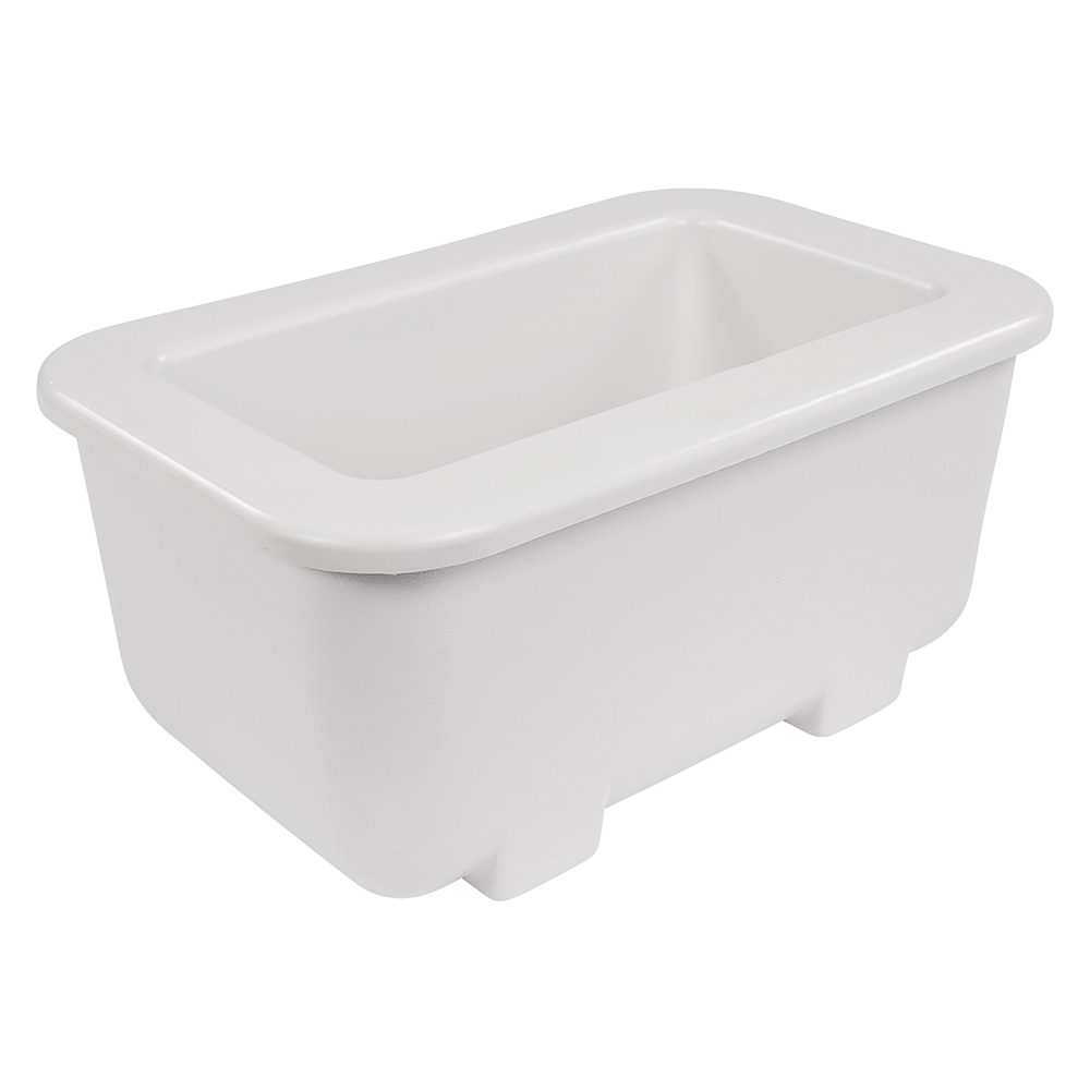 "Carlisle CM104502 1/3 Size Coldpan - 6"" D, Refrigerant Gel Insulated, White"