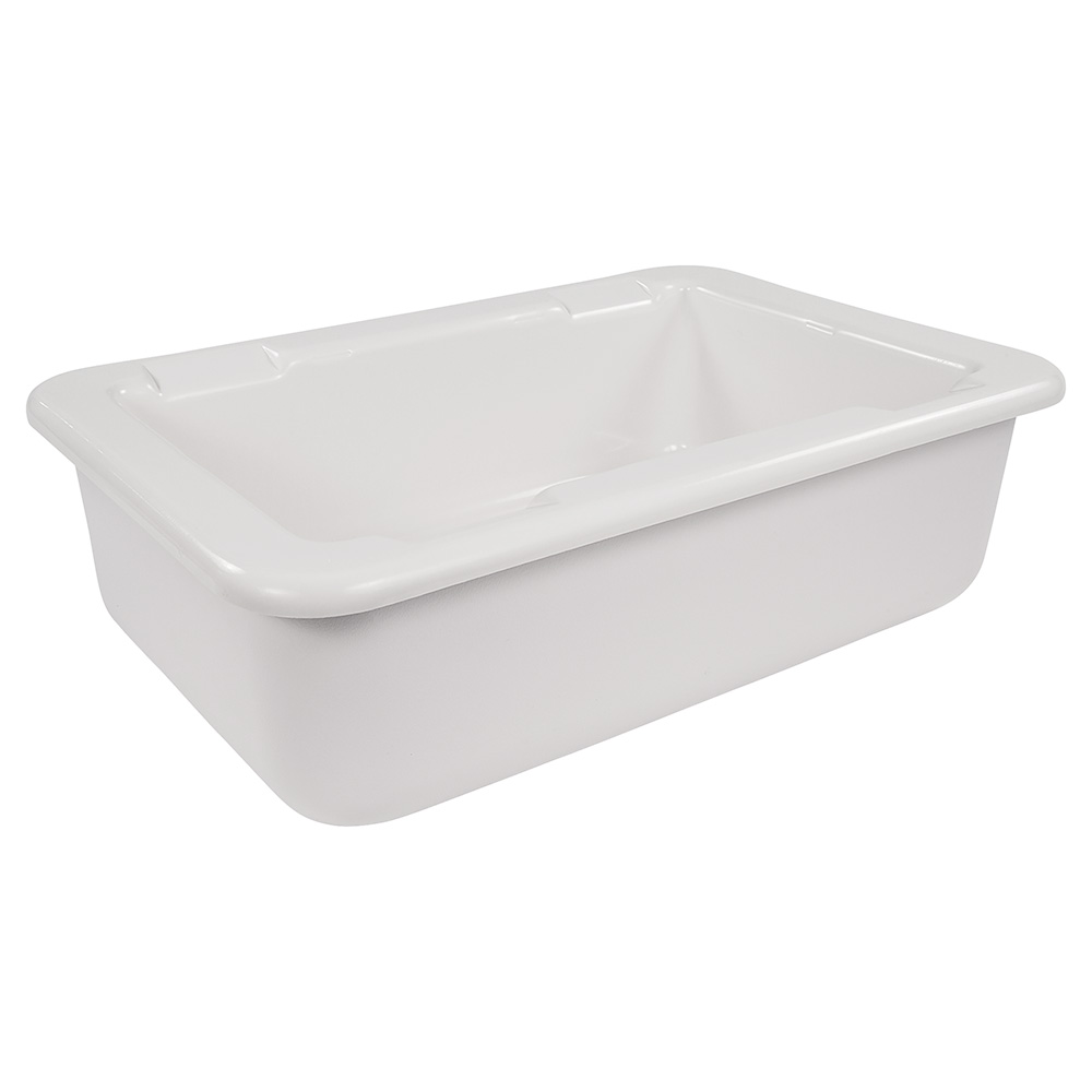Carlisle CM104902 Food Pan Holder w/ (6) Full-Size Pan Capacity, Plastic, White