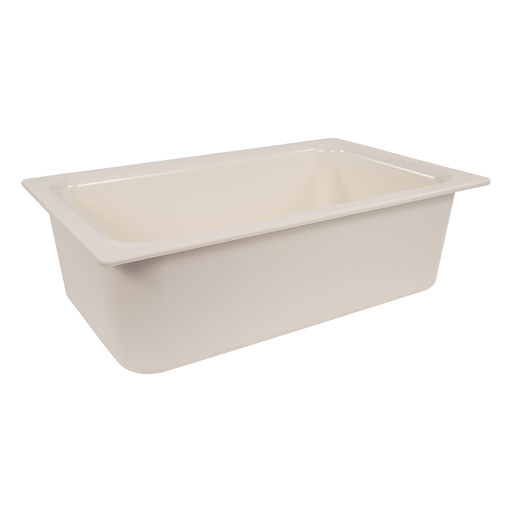 "Carlisle CM110002 Coldmaster Full Size Food Pan - 6""D, White"
