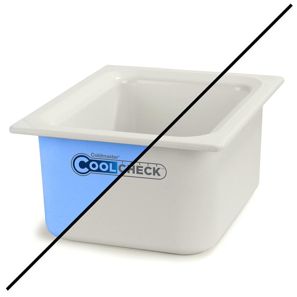 "Carlisle CM1101C1402 Half Size Coldmaster Coolcheck Food Pan, 6"" Deep, 6-qt Capacity, White/Blue"
