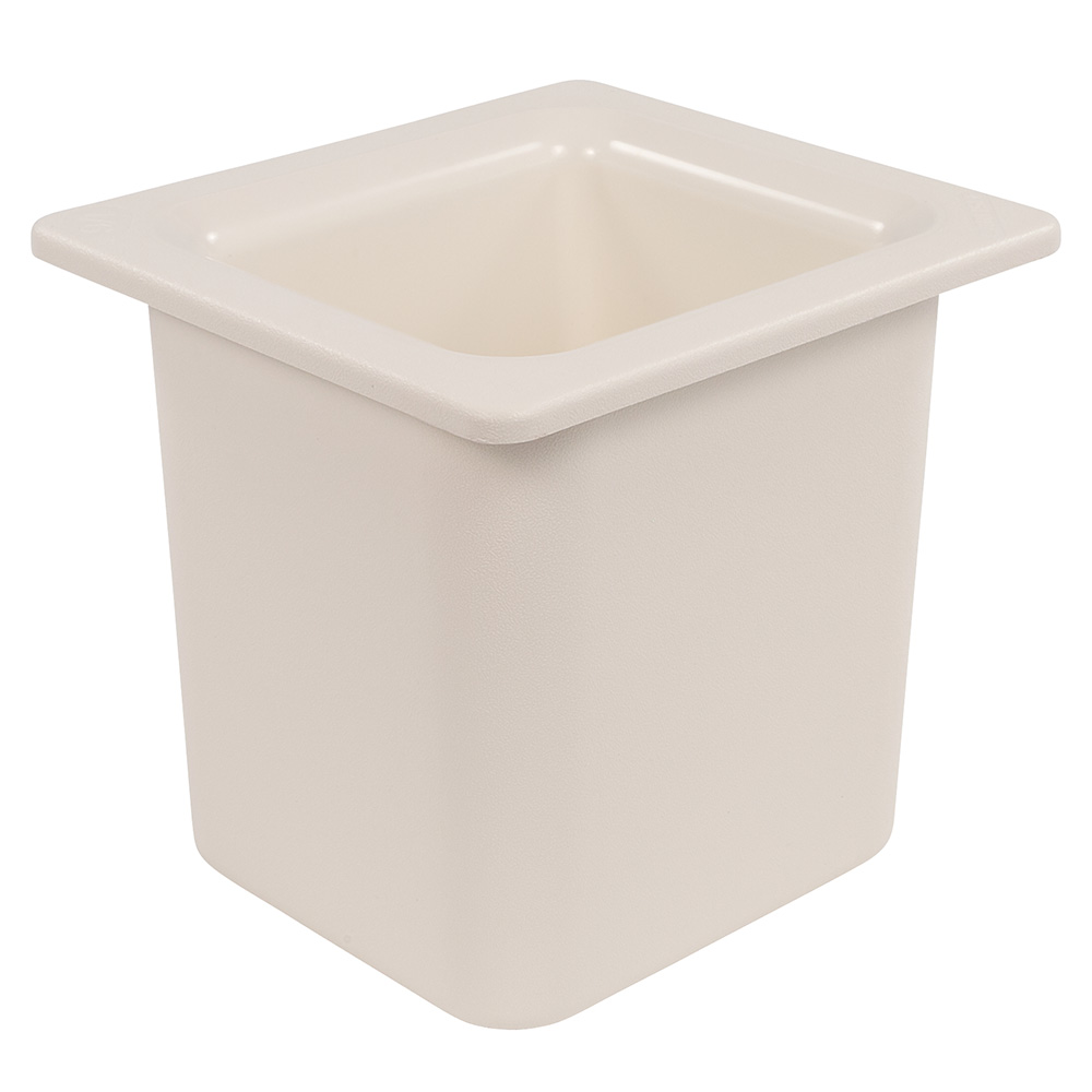 "Carlisle CM110502 Coldmaster 1/6 Size High Capacity Food Pan - 6""D, White"