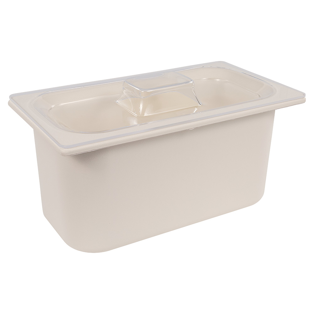Carlisle CM112707 Third-Size Lid for Standard Pan, Mold-In Handle, Clear Acrylic