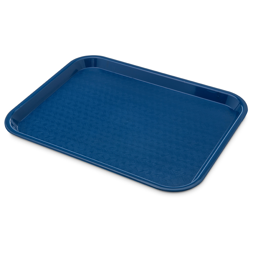 Carlisle CT101414 Fast Food Tray, Rectangular, 10 x 14 in, Polypropylene, Blue