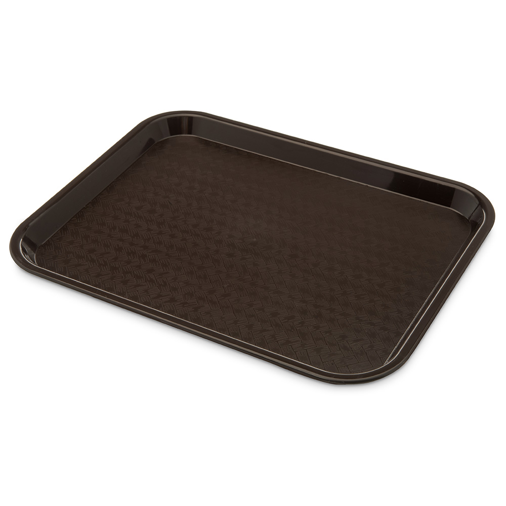 Carlisle CT101469 Fast Food Tray, Rectangular, 10 x 14 in, Polypropylene, Chocolate