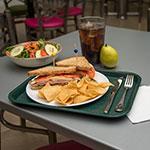 "Carlisle CT101408 Rectangular Cafeteria Tray - 13.875"" x 10.75"", Polypropylene, Forest Green"