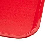 "Carlisle CT101405 Rectangular Cafeteria Tray - 13.875"" x 10.75"", Polypropylene, Red"