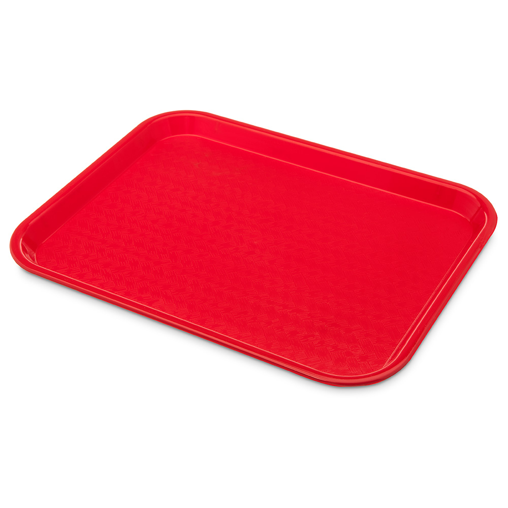 Carlisle CT101405 Fast Food Tray, Rectangular, 10 x 14 in, Polypropylene, Red