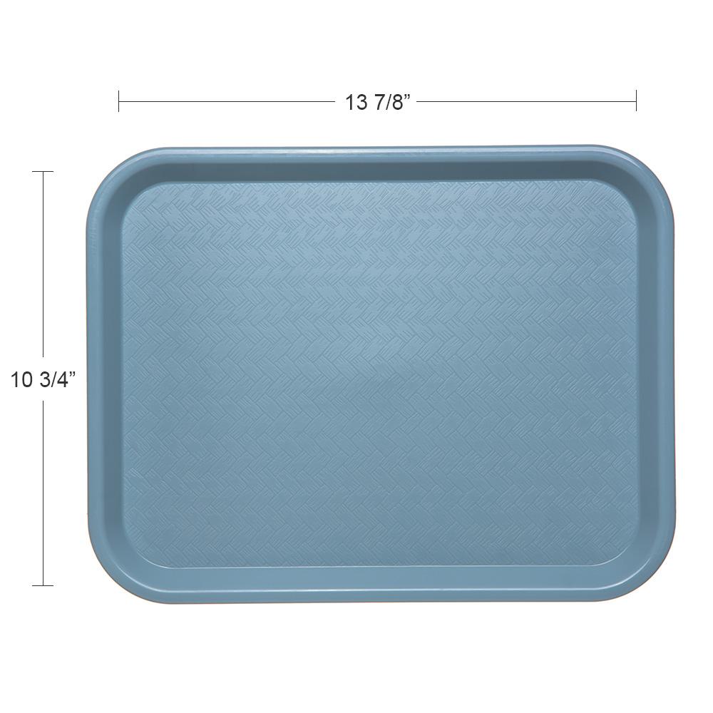 "Carlisle CT101459 Rectangular Cafeteria Tray - 13.875"" x 10.75"", Polypropylene, Slate Blue"