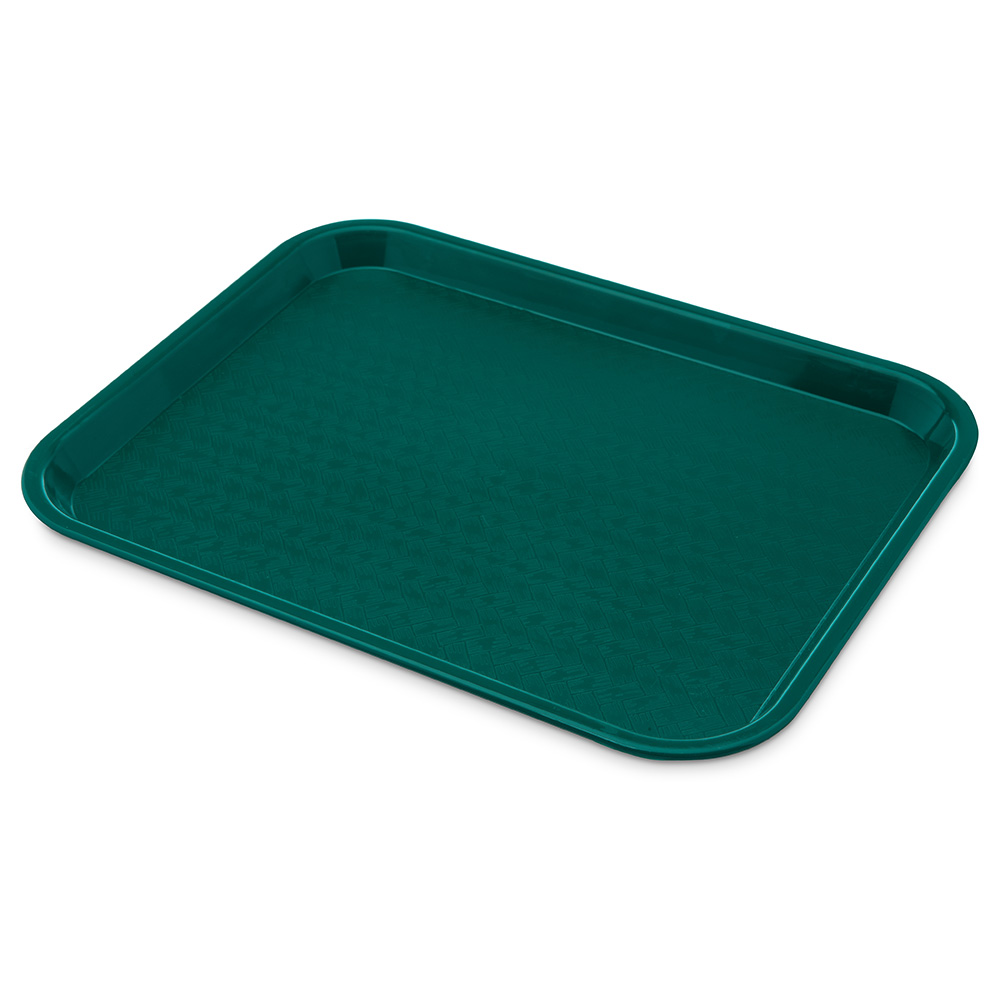 Carlisle CT101415 Fast Food Tray, Rectangular, 10 x 14 in, Polypropylene, Teal