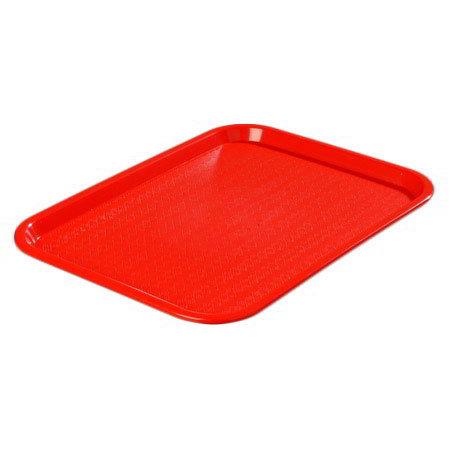 """Carlisle CT1216-81-05 Rectangular Cafe Tray - (6/Pk) 16-5/16x12"""" Red"""