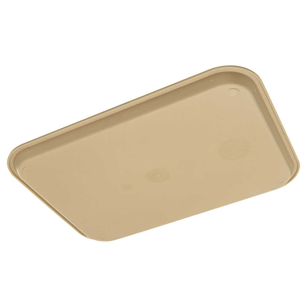"Carlisle CT121606 Rectangular Cafeteria Tray - 16.3125"" x 12"", Polypropylene, Beige"