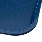"Carlisle CT121614 Rectangular Cafeteria Tray - 16.3125"" x 12"", Polypropylene, Blue"