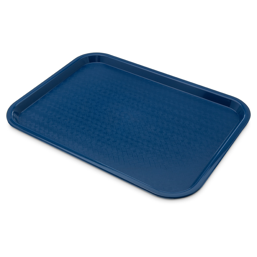 Carlisle CT121614 Fast Food Tray, Rectangular, 12 x 16 in, Polypropylene, Blue