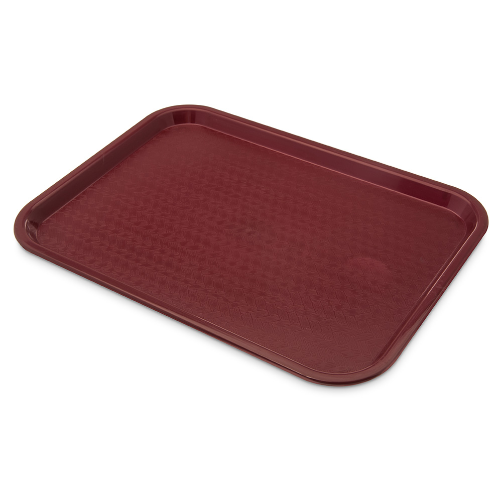 Carlisle CT121661 Fast Food Tray, Rectangular, 12 x 16 in, Polypropylene, Burgundy