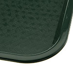 "Carlisle CT121608 Rectangular Cafeteria Tray - 16.3125"" x 12"", Polypropylene, Forest Green"