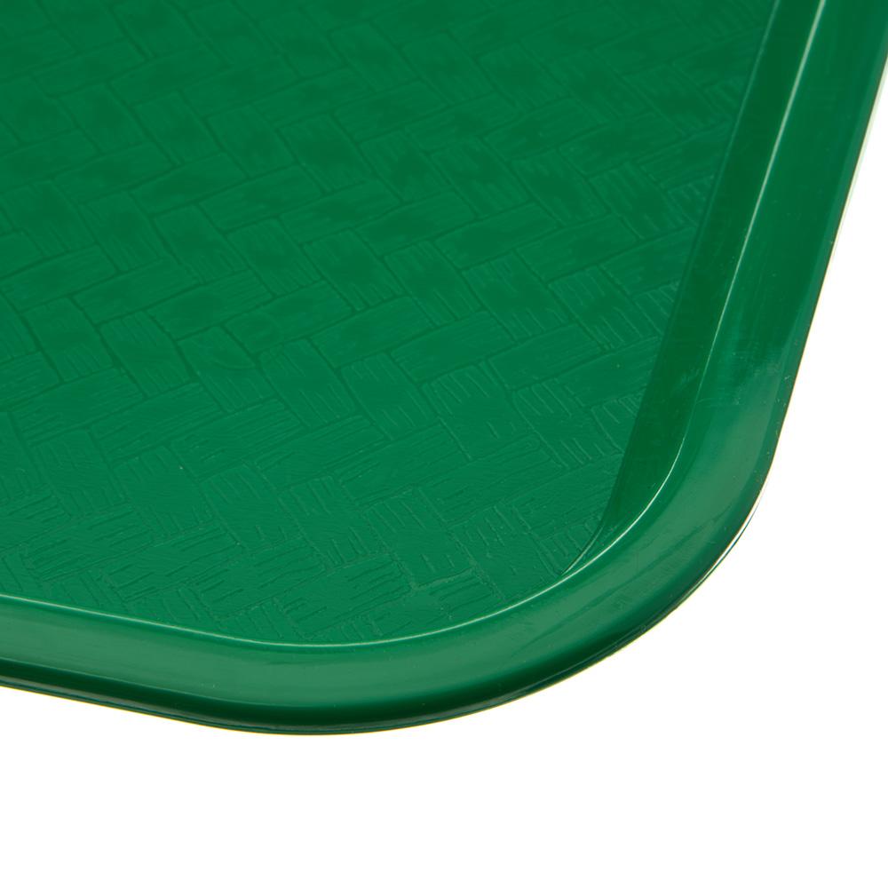 """Carlisle CT121609 Rectangular Cafeteria Tray - 16.3125"""" x 12"""", Polypropylene, Green"""