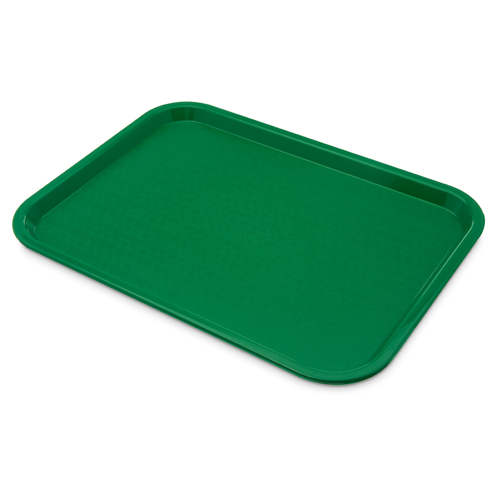 Carlisle CT121609 Fast Food Tray, Rectangular, 12 x 16 in, Polypropylene, Green