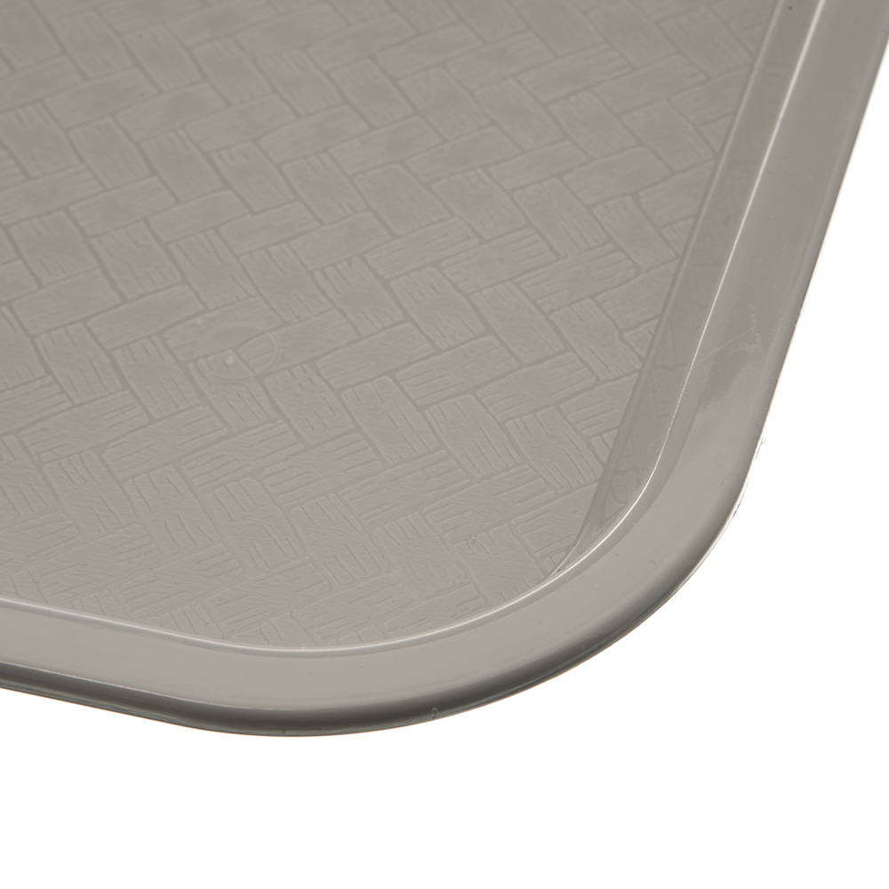 "Carlisle CT121623 Rectangular Cafeteria Tray - 16.3125"" x 12"", Polypropylene, Gray"