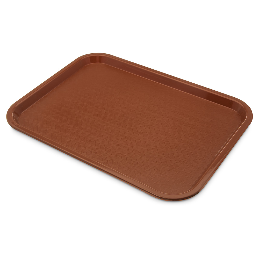 Carlisle Food Service CT121631 Fast Food Tray Rectangular 12 in x 16 in Polypropylene Light Brown Restaurant Supply