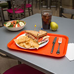 "Carlisle CT121624 Rectangular Cafeteria Tray - 16.3125"" x 12"", Polypropylene, Orange"